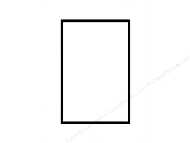 Pre-cut Double Photo Mat Board by Accent Design Black Core 12 x 16 in. for 8 x 12 in. Photo White/Black