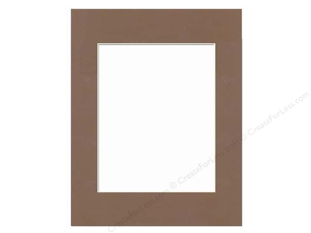 Pre-cut Photo Mat Board by Accent Design Cream Core 11 x 14 in. for 8 x 10 in. Photo Chestnut