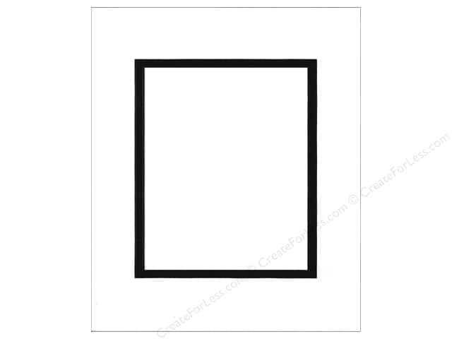 Pre-cut Double Photo Mat Board by Accent Design Black Core 16 x 20 in. for 11 x 14 in. Photo White/Black