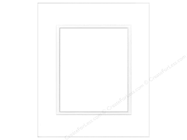 Pre-cut Double Photo Mat Board by Accent Design White Core 16 x 20 in. for 11 x 14 in. Photo Soft White/Soft White