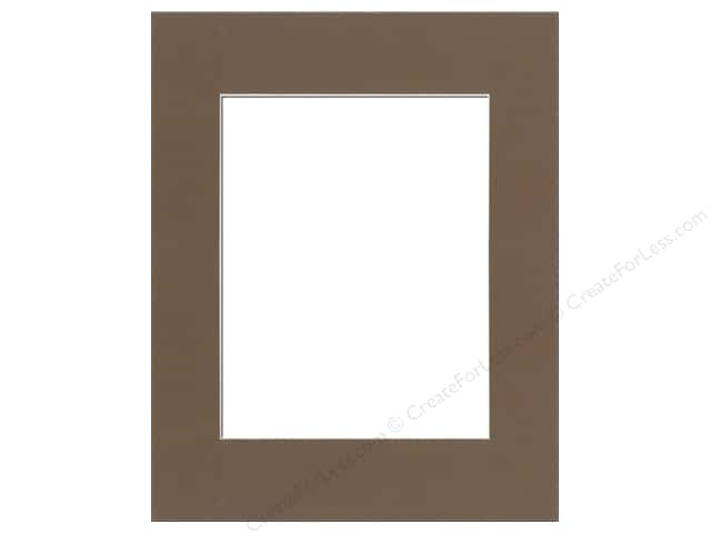 Pre-cut Photo Mat Board by Accent Design Cream Core 12 x 16 in. for 8 x 12 in. Photo Chestnut