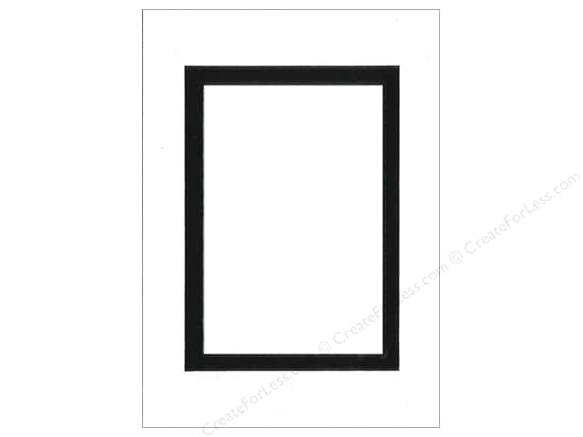 Pre-cut Double Photo Mat Board by Accent Design Black Core 5 x 7 in. for 3 1/2 x 5 in. Photo White/Black