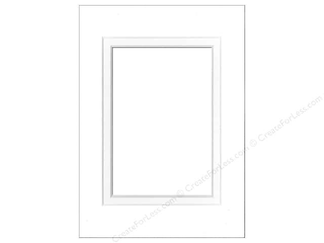 Pre-cut Double Photo Mat Board by Accent Design White Core 5 x 7 in. for 3 1/2 x 5 in. Photo Soft White/Soft White