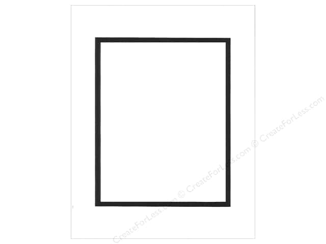 PA Framing Pre-cut Double Photo Mat Board Black Core 11 x 14 in. for 8 x 10 in. Photo White/Black