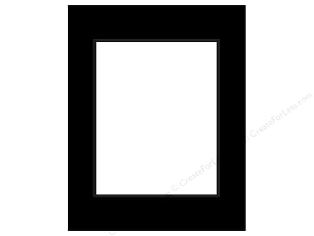 Pre-cut Double Thick Gallery Photo Mat Board by Accent Design Black Core 11 x 14 in. for 8 x 10 in. Photo Black