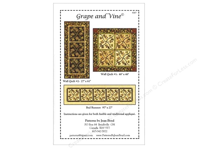 Jean Boyd Grape And Vine Pattern