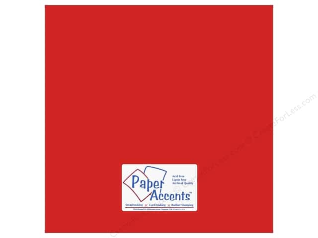 Cardstock 12 x 12 in. #18003 Smooth Red Devil by Paper Accents (25 sheets)
