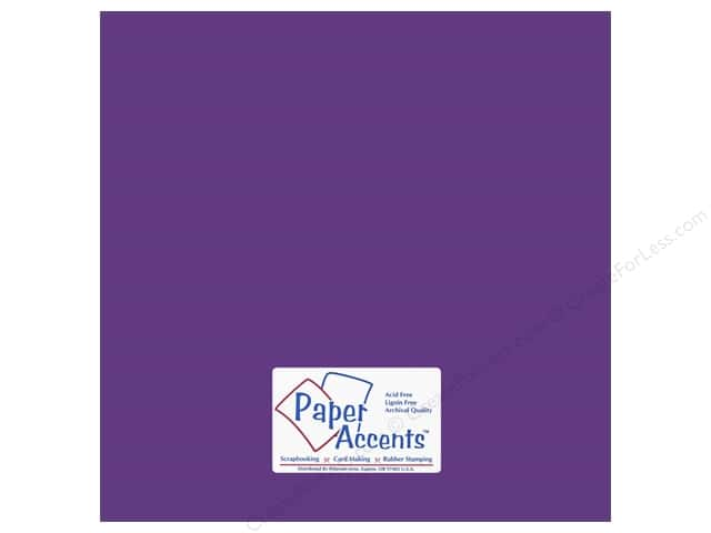 Paper Accents Cardstock 12 x 12 in. #18052 Smooth Concord Grape (25 sheets)