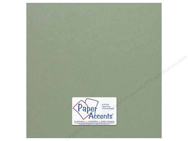 Cardstock 12 x 12 in. #64 Smooth Juniper by Paper Accents (25 sheets)