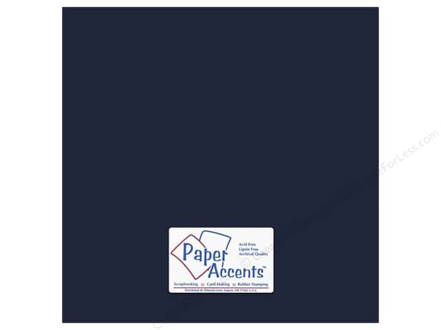 Cardstock 12 x 12 in. #66 Smooth Goodnight by Paper Accents (25 sheets)