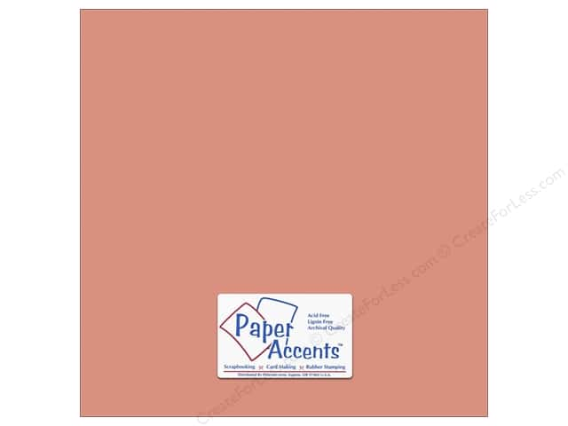 Paper Accents 12 x 12 in. #67 Smooth Coral (25 sheets)