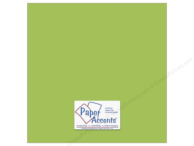 Cardstock 12 x 12 in. #68 Smooth Gecko Green by Paper Accents (25 sheets)