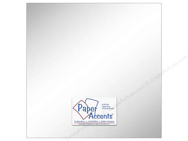 Cardstock 12 x 12 in. #858C Pearlized Ice Silver by Paper Accents (25 sheets)