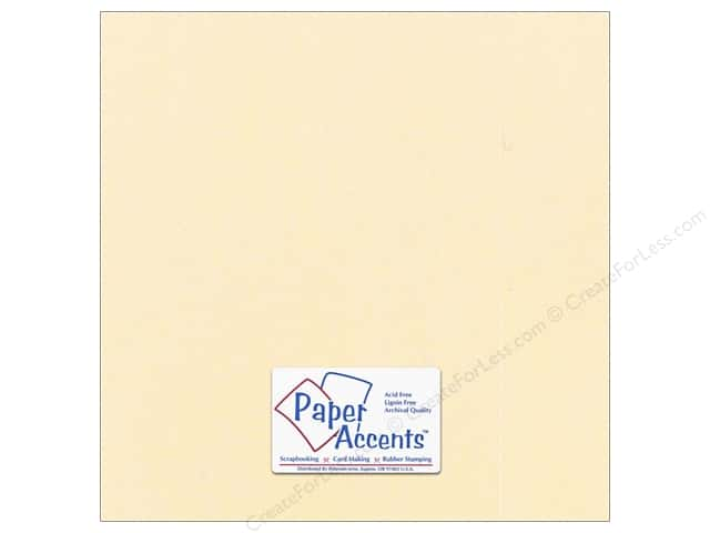 Paper Accents Cardstock 12 x 12 in. #869C Pearlized Cornsilk (25 sheets)
