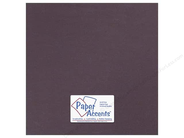 Paper Accents Pearlized Paper 12 x 12 in. #8840 Raisin (25 sheets)