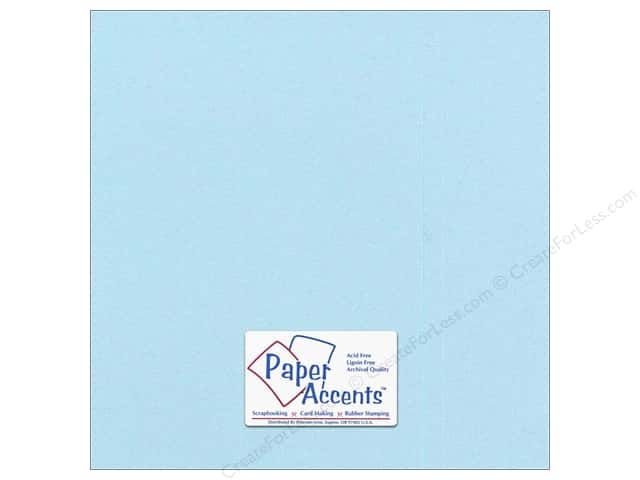 Paper Accents Pearlized Paper 12 x 12 in. #8841 Powder Blue (25 sheets)