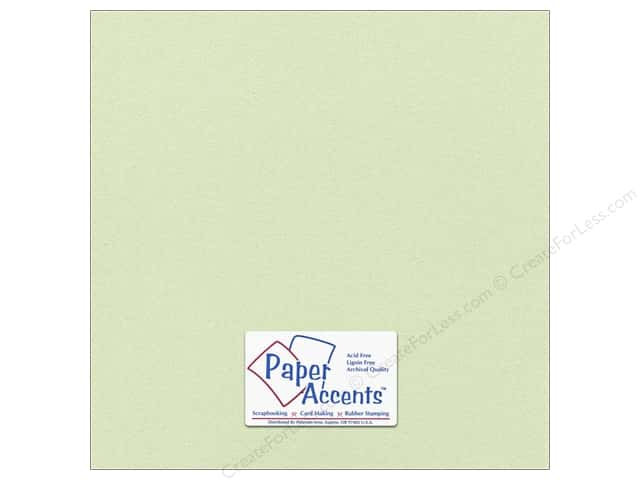 Paper Accents Pearlized Paper 12 x 12 in. #8842 Honeydew (25 sheets)