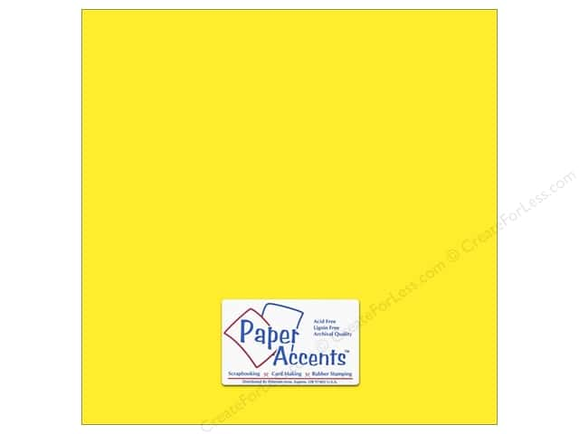 Cardstock 12 x 12 in. #8843 Fluorescent Neon Yellow by Paper Accents (25 sheets)