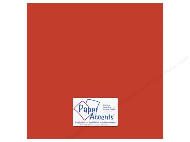Cardstock 12 x 12 in. #8844 Fluorescent Neon Red by Paper Accents (25 sheets)