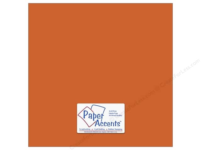 Cardstock 12 x 12 in. #8845 Fluorescent Neon Orange by Paper Accents (25 sheets)