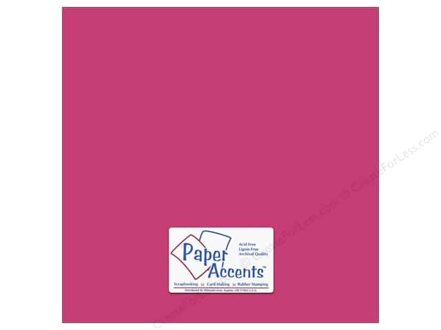 Cardstock 12 x 12 in. #8846 Fluorescent Neon Pink by Paper Accents (25 sheets)