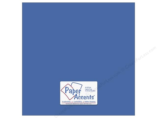 Cardstock 12 x 12 in. #8848 Fluorescent Neon Blue by Paper Accents (25 sheets)