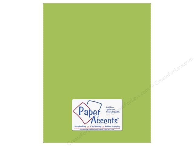 Cardstock 8 1/2 x 11 in. #68 Smooth Gecko Green by Paper Accents (25 sheets)