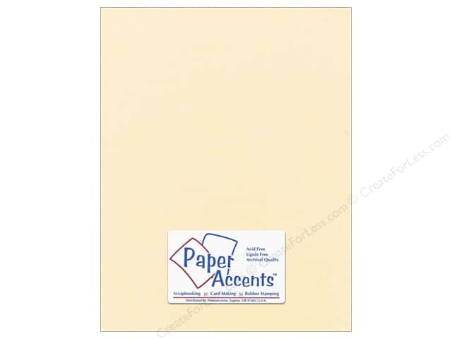 Cardstock 8 1/2 x 11 in. #869C Pearlized Cornsilk by Paper Accents (25 sheets)