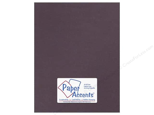 Cardstock 8 1/2 x 11 in. #8840C Pearlized Raisin Paper by Paper Accents (25 sheets)