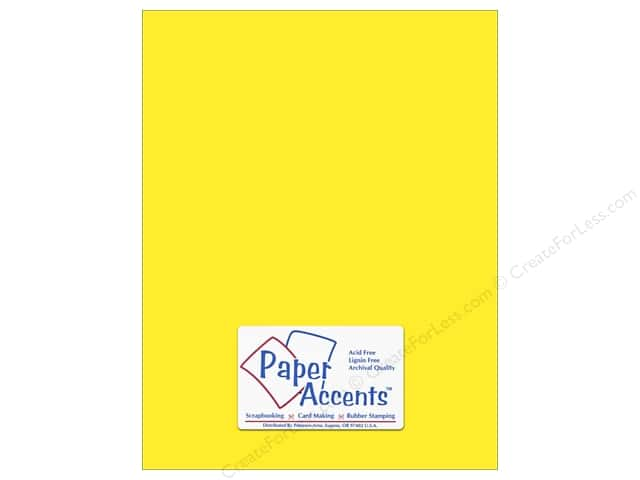 Cardstock 8 1/2 x 11 in. #8843 Fluorescent Neon Yellow by Paper Accents (25 sheets)
