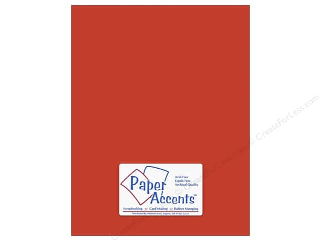 Cardstock 8 1/2 x 11 in. #8844 Fluorescent Neon Red by Paper Accents (25 sheets)