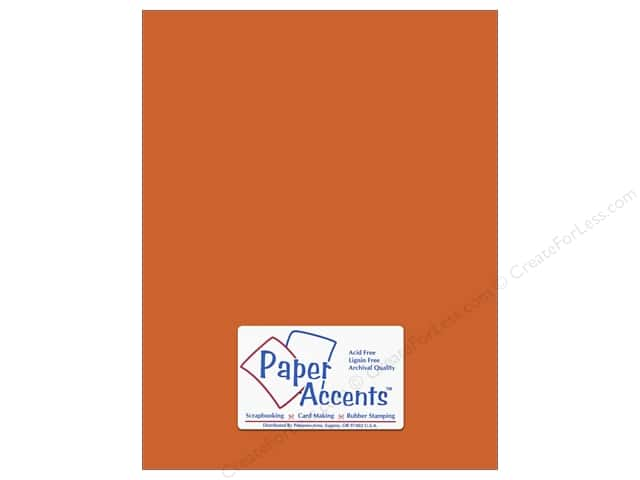 Cardstock 8 1/2 x 11 in. #8845 Fluorescent Neon Orange by Paper Accents (25 sheets)