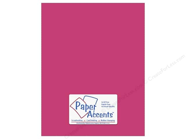 Cardstock 8 1/2 x 11 in. #8846 Fluorescent Neon Pink by Paper Accents (25 sheets)