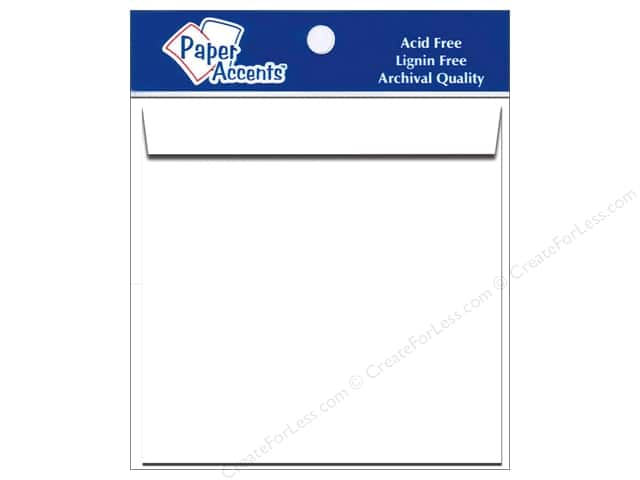 12 1/2 x 12 1/2 in. Envelopes by Paper Accents 5 pc. #128 White