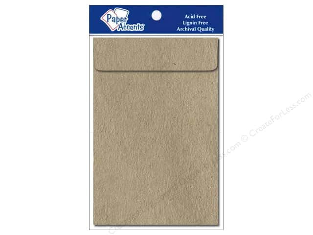 6 x 9 in. Envelopes by Paper Accents 10 pc. #357 Brown Bag