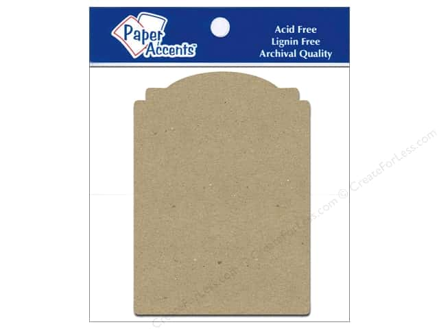 Paper Accents Chipboard Shape Marquee #2 8 pc. Kraft