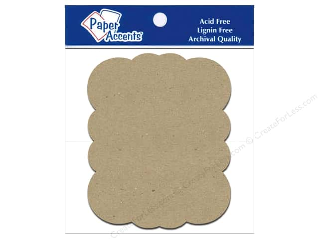 Paper Accents Chipboard Shape Marquee #5 8 pc. Kraft