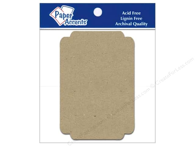 Paper Accents Chipboard Shape Marquee #6 8 pc. Kraft