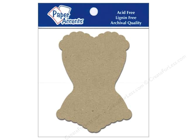 Paper Accents Chipboard Shape Corset 8 pc. Kraft