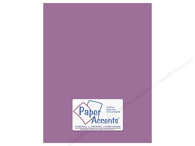 Cardstock 8 1/2 x 11 in. #18056 Smooth Purple Pizzazz by Paper Accents (25 sheets)