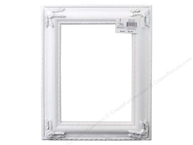 Sierra Pacific Frame Open Back 5 in. x 7 in. Ornate Plastic White
