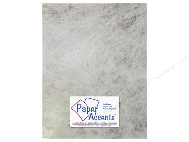 Cardstock 8 1/2 x 11 in. #8851 Spun Silk Silver by Paper Accent (25 sheets)