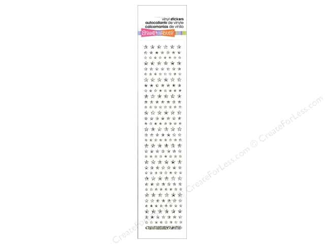 Stampendous Sticker Sparklers Star Holograph Silver