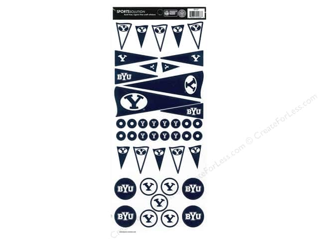 Sports Solution Sticker Pennant BYU