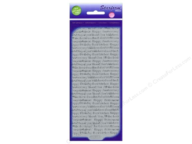 Starform Peel Off Sticker Words Assorted 2 Silver