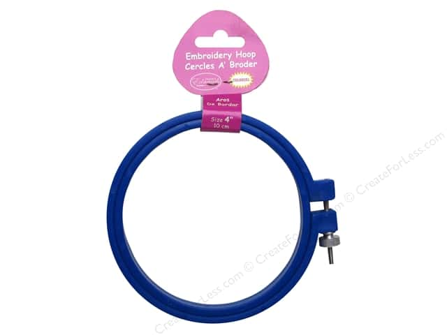 F.A. Edmunds Plastic Embroidery Hoop 4 in. Blue