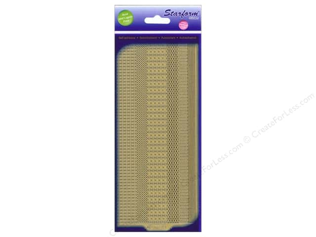 Starform Peel Off Sticker Border Assorted Gold