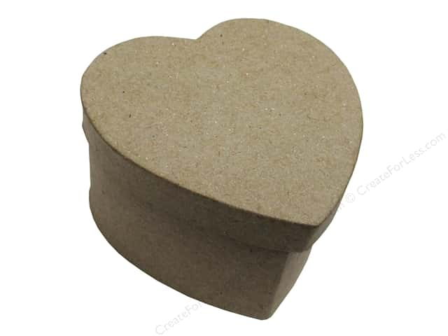 PA Paper Mache Mini Heart Box 3 1/2 in.