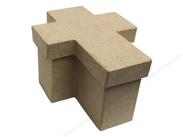 PA Paper Mache Cross Box 4 1/2 in.