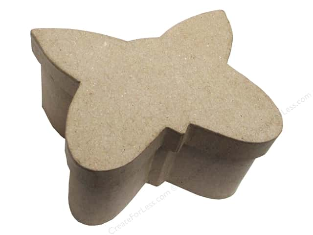 PA Paper Mache Butterfly Box 4 1/2 in.